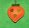 Новогодняя игрушка из фетра ручной работы Фонарик  2540