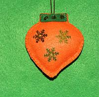 Новогодняя игрушка из фетра ручной работы Фонарик  2540, фото 1