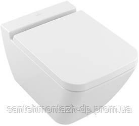 FINION унитаз 37,5*56см Rimless, подвесной, горизонт.выпуск, белый альпин CeramicPlus