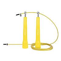 Швидкісна скакалка 4FIZJOДля кросфіта для схуднення Зпідшипниками 3м Жовтий (4FJ0184)