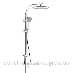 Система душевая без смесителя (верхний душ 250 мм, ручной душ 120 мм 3 режима, шланг)