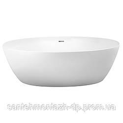 Ванна 170*82*58,5см отдельностоящая, матовая акриловая, с сифоном
