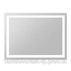Зеркало прямоугольное 60*80см со светодиодной подсветкой, с кнопочным выключателем