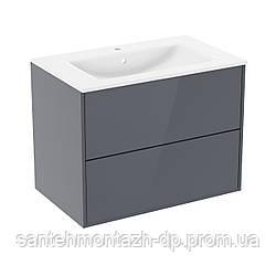 Комплект мебели 100см серый: умывальник VILLEROY&BOCH VERITY LINE + тумба 100см подвесная, 2 ящика