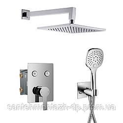 SMART CLICK система душевая скрытого монтажа (смеситель для душа, верхний душ 250*250 мм, ручной душ 3 режима,
