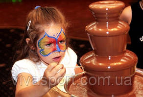 Шоколадный фонтан для праздничного стола Chocolate Fountain, шоколадный фондю