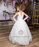 Длинное нарядное детское платье Анита  на 4-5, 6-7, 8-9 лет, фото 5