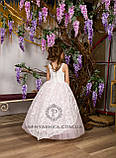 Длинное нарядное детское платье Анита  на 4-5, 6-7, 8-9 лет, фото 7