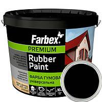 Резиновая краска Черная Фарбекс 12кг