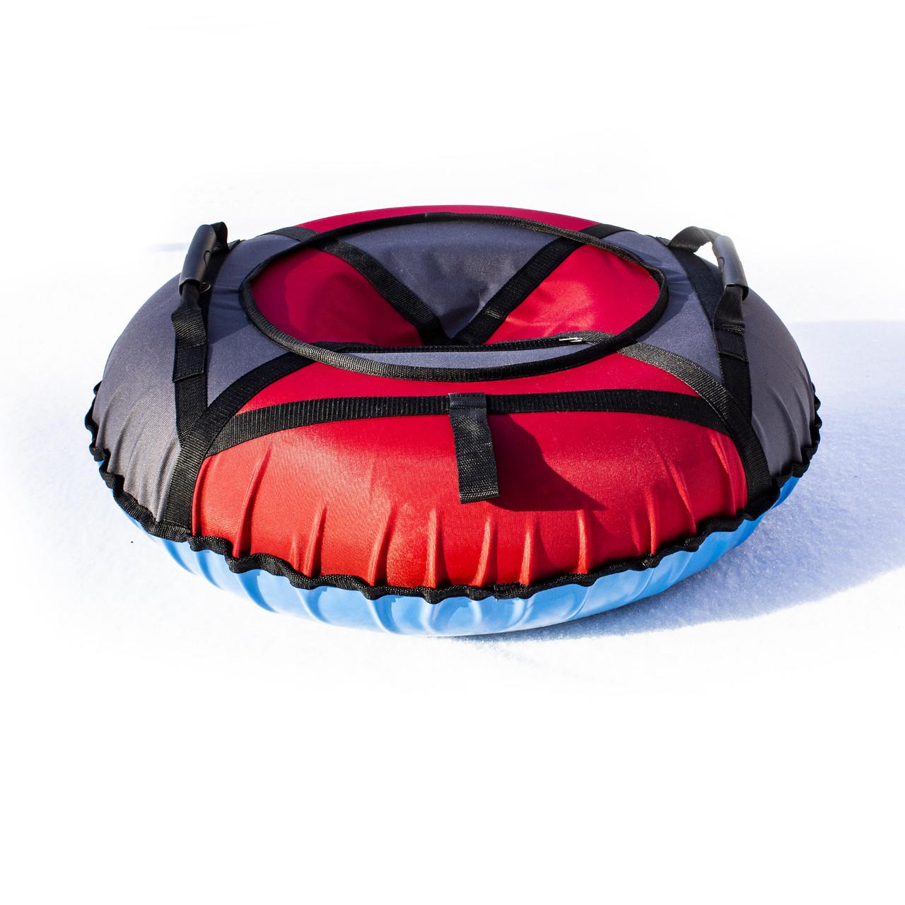 Тюбинг надувные санки ватрушка d 100 см серия Прокат Усиленная Красный Stone для детей и взрослых