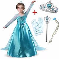 Детское платье комплект Эльза, нарядное платье Холодное сердце р 122