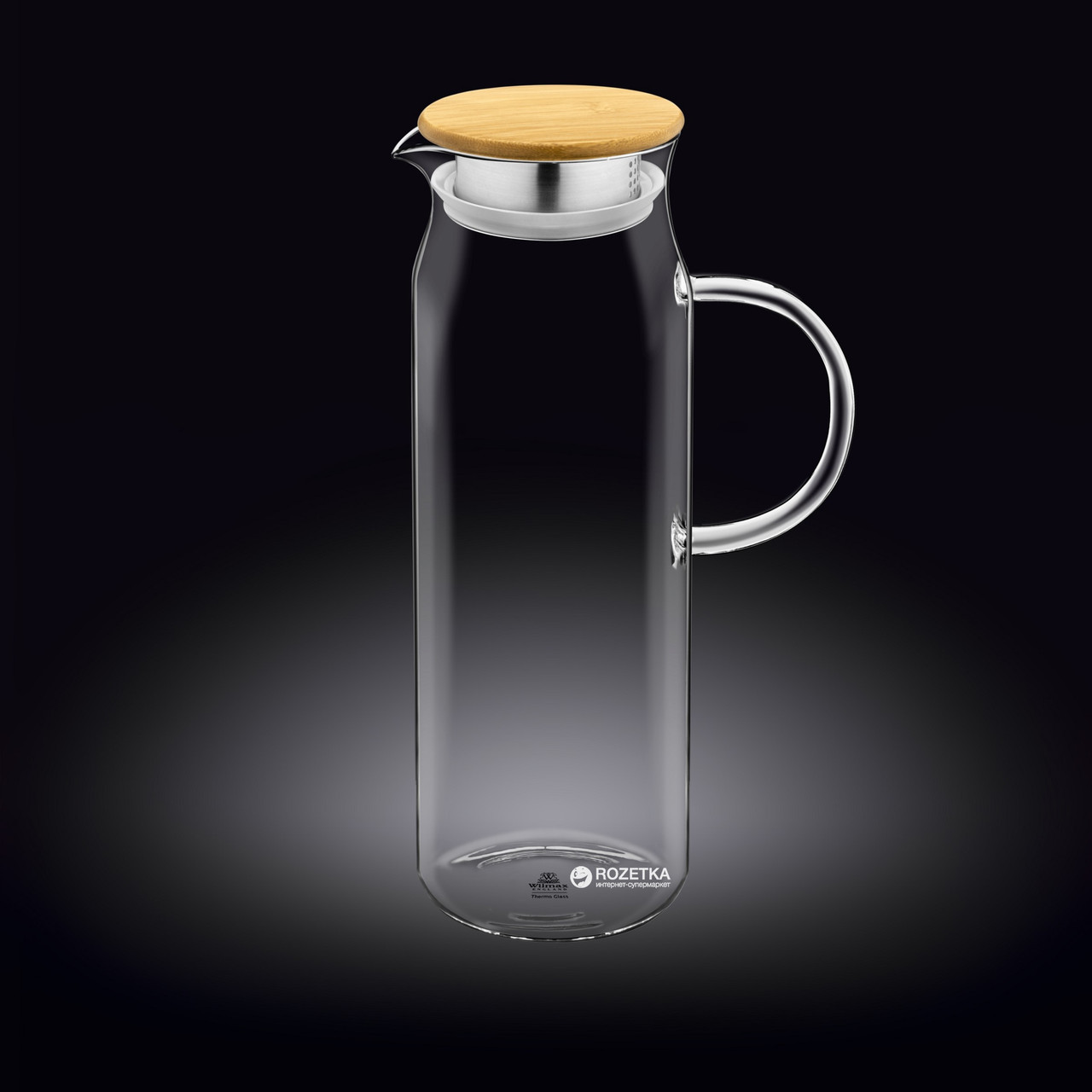 Кувшин Wilmax с крышкой 1,5л стекло (888208 WL)