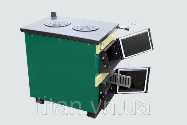 Тивер АКТВ-18 котел с плитой твердотопливный универсальный