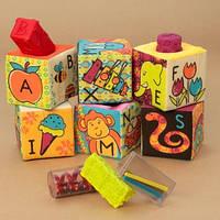 Развивающие мягкие кубики-сортеры Battat BX1368Z ABC (6 куб., в сумочке)