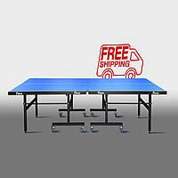Теннисный стол для помещений «Феникс» Master Sport M16 синий
