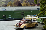 Модель 2х этажного вагона для перевозки автомобилей, принадлежности DB, масштаба 1:87,H0 арт. Heris 11201, фото 7