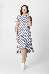 Асиметричне плаття в смужку Tell 6766