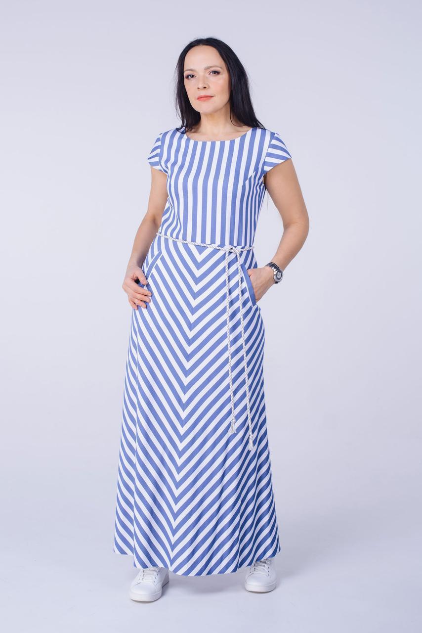 Довге плаття в смужку Tell 6791