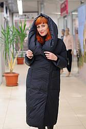 Женский стильный пуховик одеяло черный