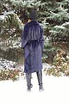 Стильная женская эко шуба синяя Elvi Ш 31, фото 8