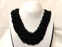 Ожерелье из бисера, черного цвета