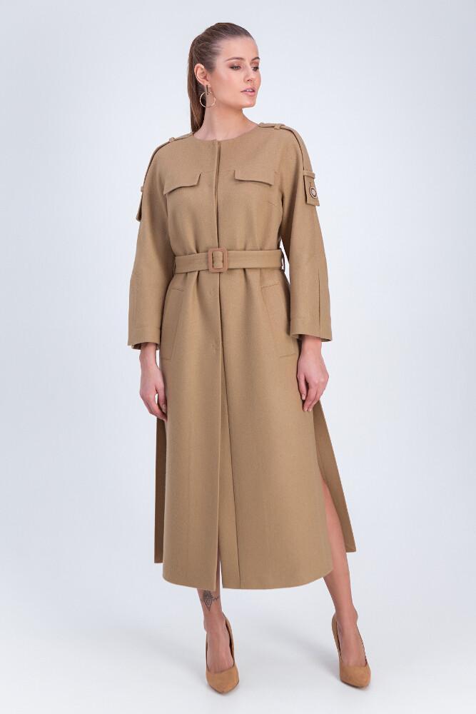 Стильне подовжене пальто Vam М-668