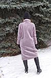 Женская шуба из эко меха серая Elvi Ш 31, фото 5
