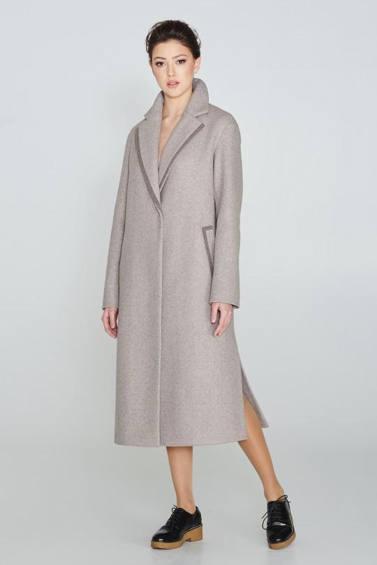 Пальто жіноче демісезонне класичне подовжене Elvi 710