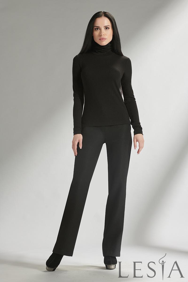 Класичні жіночі вовняні штани чорні Lesya МОРЕС