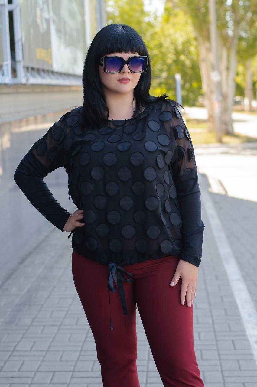 Нарядна блузка вільного силуету з напівпрозорого шифону Lesya ЭКЛИЯ