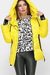 Женская зимняя короткая желтая куртка 8290, фото 2