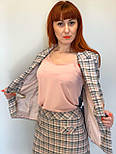Женский костюм двойка из жакета и юбки в клетку   2253, фото 5