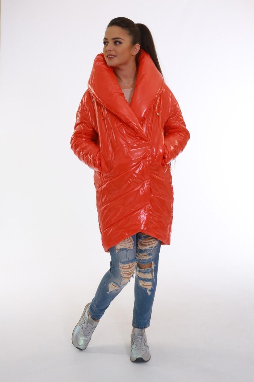 Стильна демісезонна помаранчева куртка Ricco Поллі