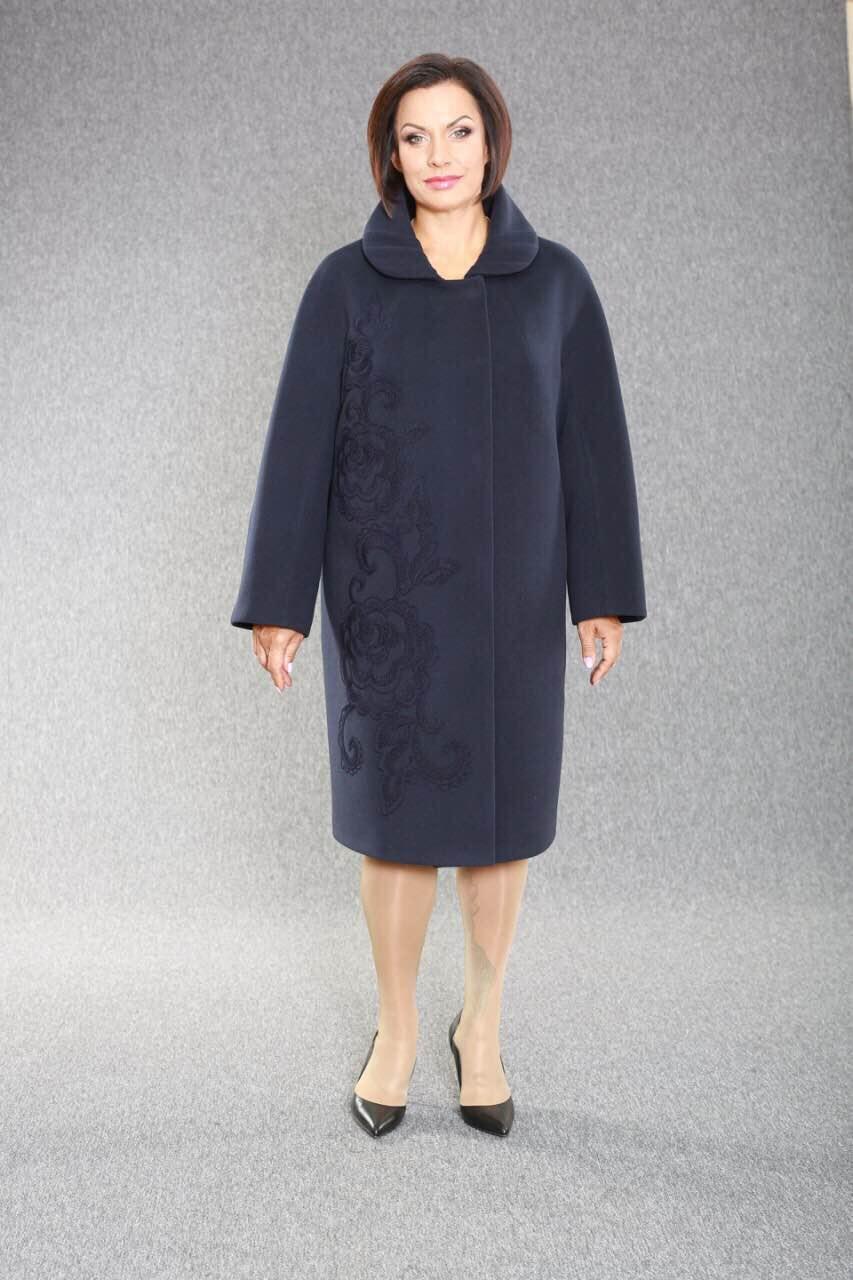 Пальто жіноче демісезонне з вишивкою Ricco Арфа