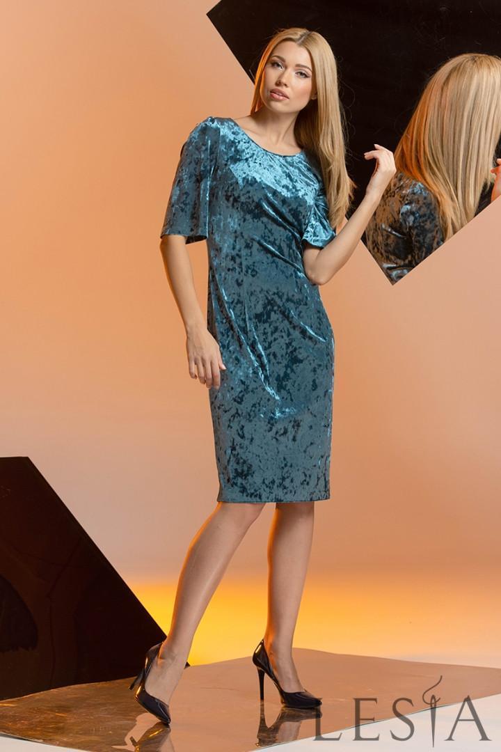 Нарядное платье из мраморного велюра Lesya Вавила
