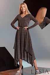 Ошатне плаття приталеного силуету з тканини гофре з люрексом Lesya Элиата.