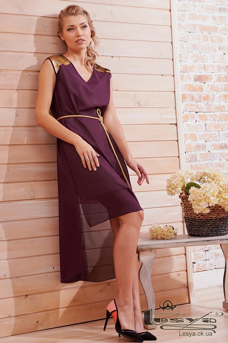 Шифоновое платье с ассиметричной длиной  Lesya Веньян
