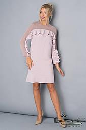 Ніжне плаття мерехтливої кольору з рюшів Lesya Франси.