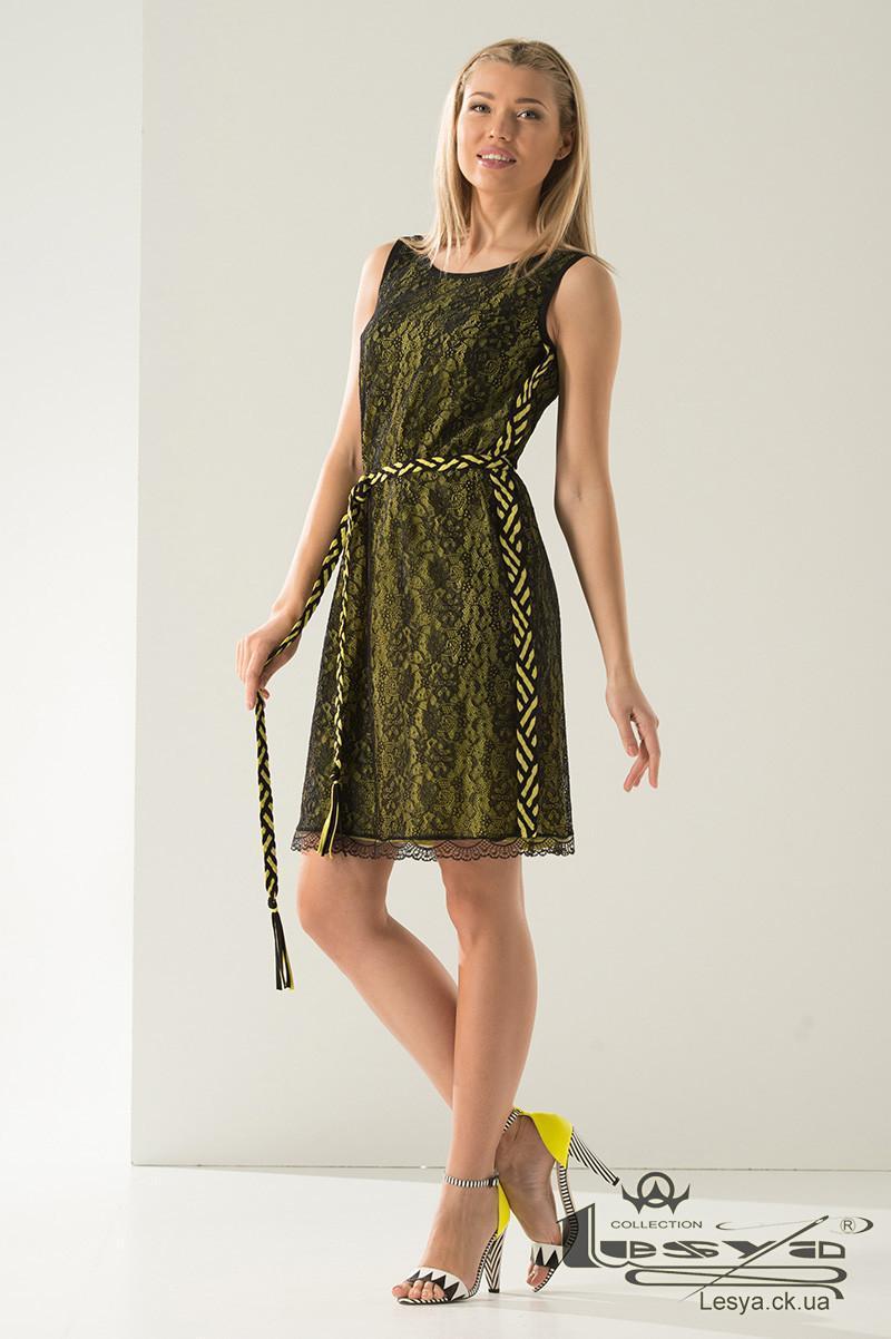 Плаття з гіпюру на контрастній основі з штапелю Lesya Райан.