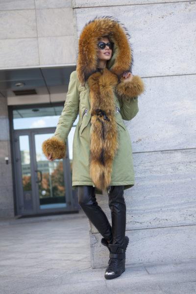 Зимняя  женская парка  с мехом лисы Ledi L Моника