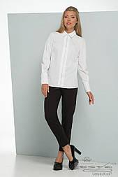 Женская белая рубашка  в деловом стиле из хлопка Lesya ВИРТА