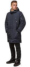 Зимова чорно-синя парку чоловіча модель 90520 (ЗАЛИШИВСЯ ТІЛЬКИ 48(M))
