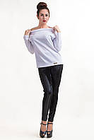 СВИТШОТ AGIO, яркая недорогая кофта со спущенными плечами, 44-50 размер