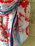 Палантин віскоза з квітковим принтом, фото 2