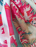 Палантин віскоза з квітковим принтом, фото 4