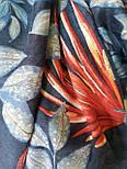 Палантин віскоза з квітковим принтом, фото 3
