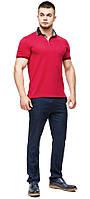 Удобная мужская красная футболка поло модель 6285, фото 1