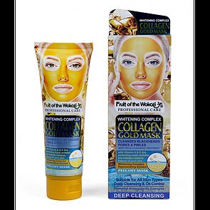Маска пленка для лица Wokali Fruit of the Collagen Gold Mask с коллагеном и золотом 130 мл