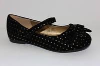Черные туфельки для девочек (с Англии) 24,26р.