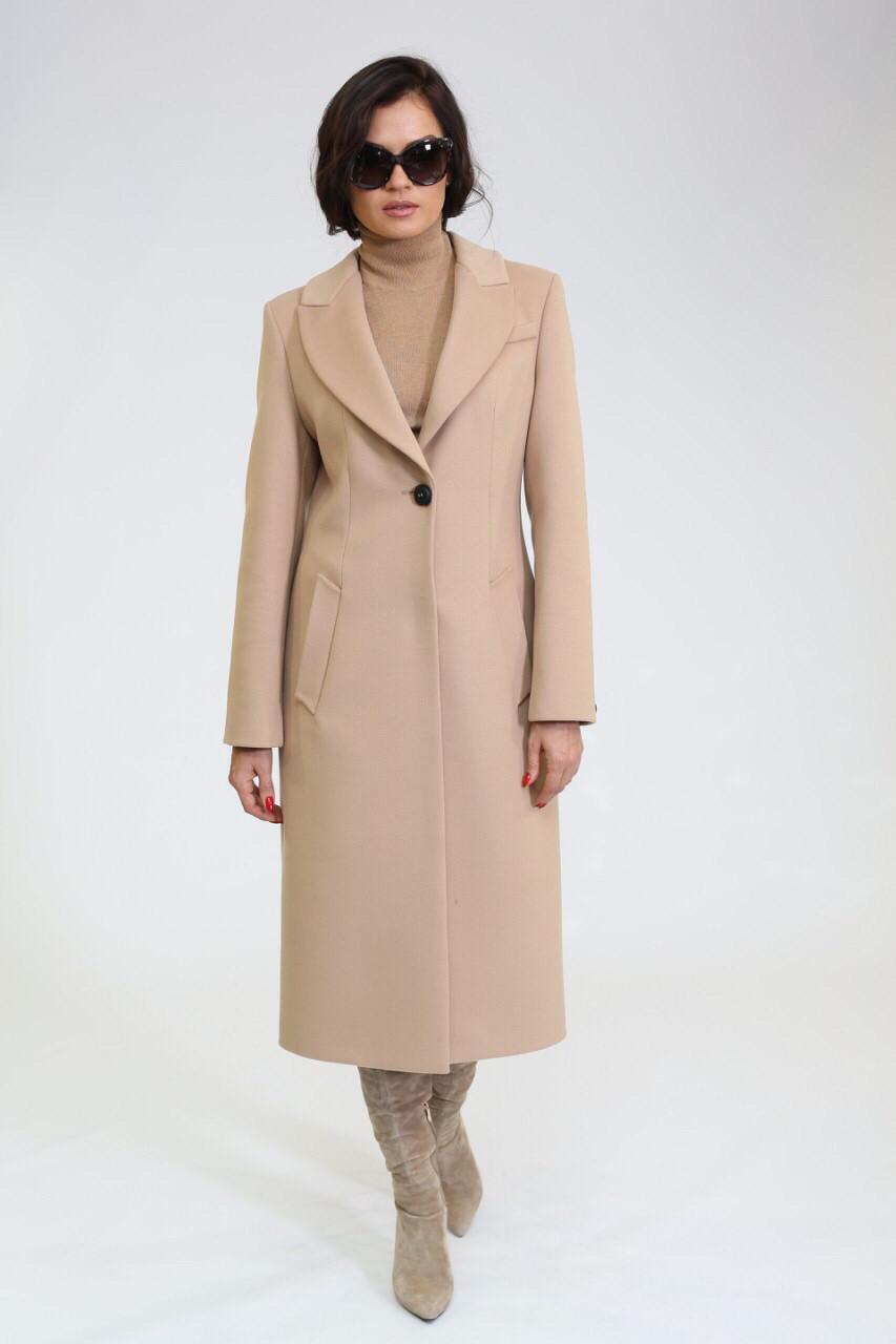 Класичне жіноче демісезонне пальто бежеве Ricco Лукреція